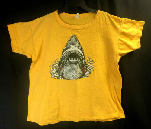 Vintage Bootleg JAWS T-Shirt 1970s Single Stitch,