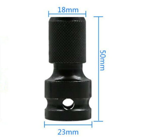 Electric Wrench Adapter Hexagon Socket 1//2-1//4 Drill Drive Converter Tools