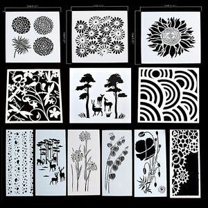 Reusable stencil airbrush painting art diy home decor for Arts and crafts stencils craftsman