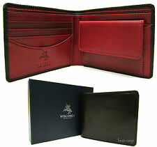 Mens Wallet Real Leather Black/Red Visconti RFID Blocking New in Gift Box TR30