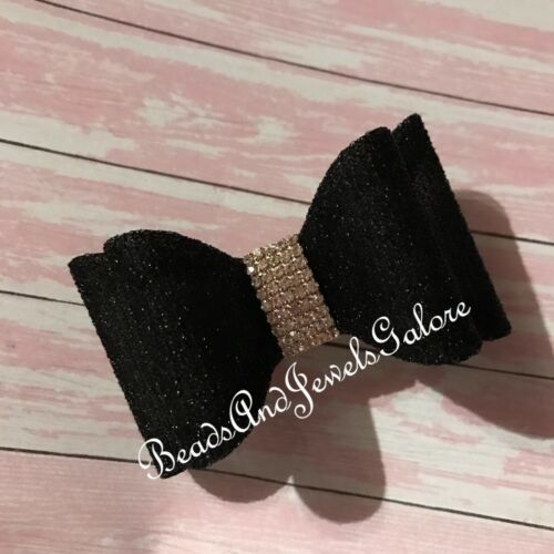 Details about  /Rhinestone hair bows Pageant bows crystal bows rhinestone bows bling bows dance