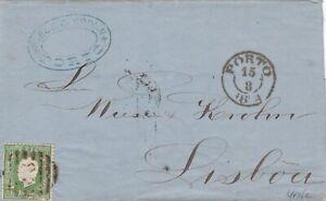 PORTUGAL-50-reis-verdes-em-carta-de-1874-Portogallo-50-peis-su-lettera-1874