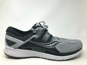 Saucony-Mens-Omni-ISO-S20442-2-Grey-Black-Athletic-Running-Shoes-Size-11-5