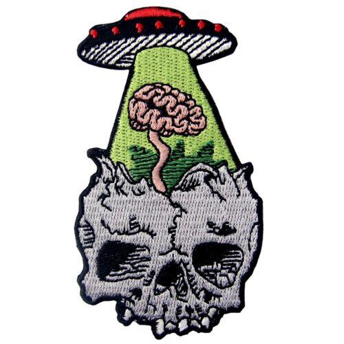 Brodé correctifs Iron sew on patches transferts insignes Appliques perdre du cerveau