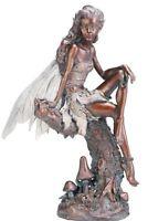 Napco Bronze Fairy Figure Garden Statue, 13-inch Tall, New, Free Shipping