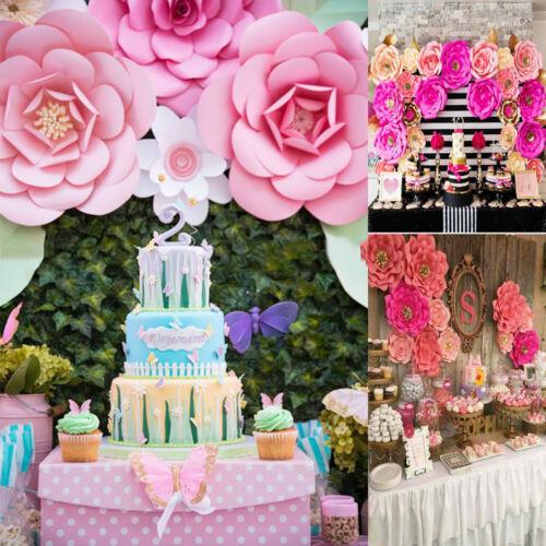 20//30cm DIY Papier Blumen Lassen Hintergrund Decor Hochzeit Birthday Party Favor