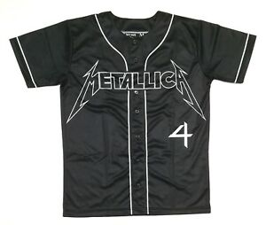 METALLICA 4 HORSEMEN Pro Style Baseball Jersey L sz 48 LARGE wwe wwf wcw nwa