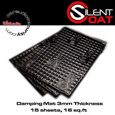 Silent Coat - Black 3mm Sound Damping Volume Pack 15 Sheets 375 x 265 mm