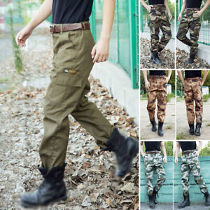 Mens-Military-Army-Combat-Camo-Pants-Casual-Work-Cargo-Comfort-Trousers-XL-4XL