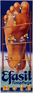 Efasit Fusspflege 1938 Vintage Foot Balm German Ad Giclee Canvas Print 14x40