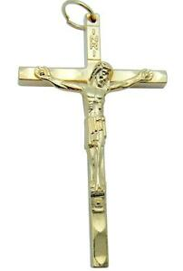 Gold tone traditional pectoral crucifix pendant catholic cross 2 image is loading gold tone traditional pectoral crucifix pendant catholic cross mozeypictures Image collections