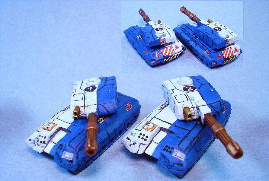 Battletech painted Marsden Marsden Marsden Tanks (2) LG 92b756