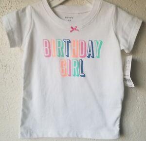 3ddab495 Carter's Infant Toddler BIRTHDAY GIRL White T-Shirt Size 12 Months ...