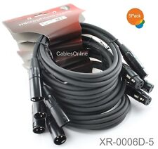 5-Pack 6ft Kirlin XLR Male/Female 20AWG Microphone Audio Cable, XR-0006D-5