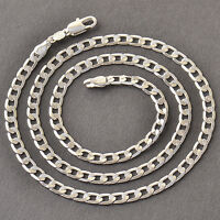 Cool White Gold Filled Womens Mens No Gemstone Cuban Link Chain Necklace