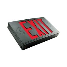Exitronix Led Exit Sign Single Or Double Face Red Letters Black 120277v