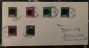1945 Dresden Germany Cover Domestic Used  Postwar provisional Overprint Circle