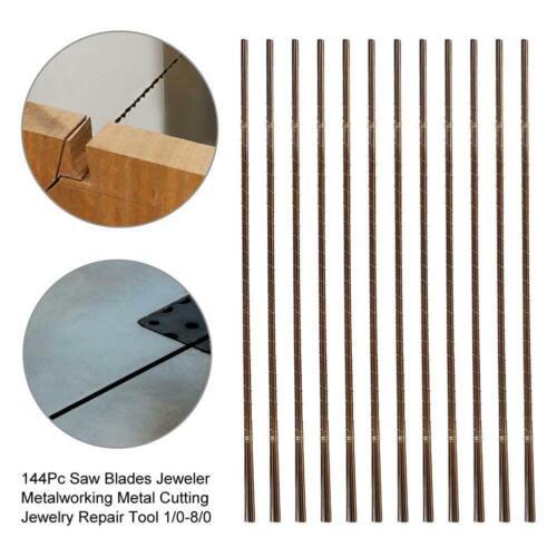 144pc Saw Blades Jewelers Metal Cutting Tool Jewelry Repair Tool Size 1//0-8//0