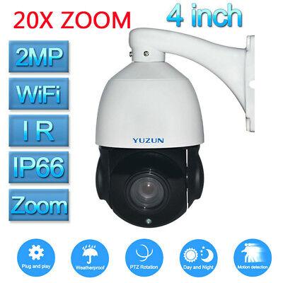 20X Optical Zoom HD 1080P CCTV PTZ IP Wifi Camera Outdoor Tilt Onvif IR SD Card