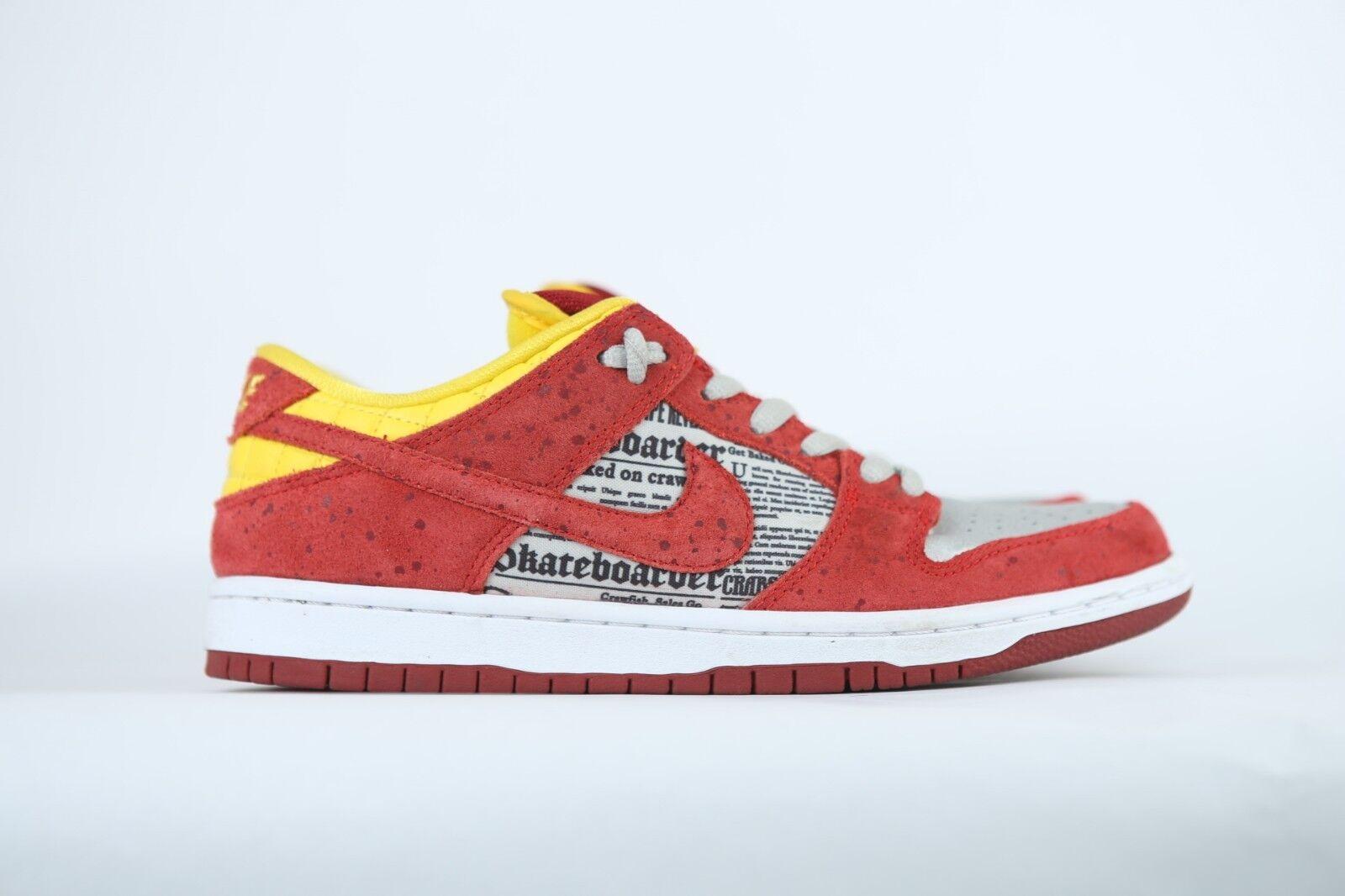 Nike SB Dunk Low Premium QS Rukus 504750-660 Red Yellow NDS US 7.5 Mens 2014 NDS