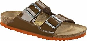 Birkenstock-Arizona-Lack-bison-brown-Gr-37-43-schmal-amp-normal
