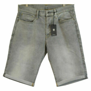 G-Star-RAW-Men-039-s-3301-Straight-Light-Aged-Grey-Denim-Shorts-Retail-120