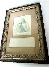 Antique 1898 German First Communion (Kommunion) Picture & Document Newport KY