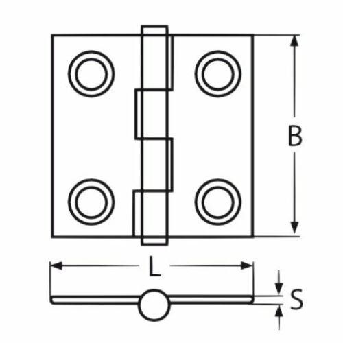 4 pièces en acier inoxydable charnière türband CHARNIERE Acier Inoxydable Charnière saisir v4a