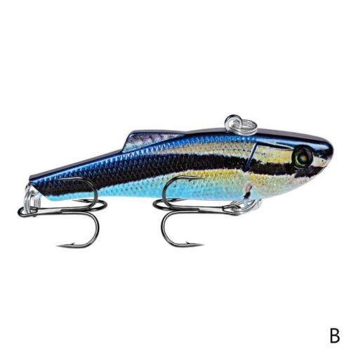 1× 7cm Sea Hard Fischköder Mit Blei Nach Innen Tauchen Swivel Jig H5O6