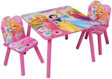 DISNEY Principessa per Bambini in Legno Tavolo Due Sedie Legno Set Bambini Camera Da Letto Stanza Dei Giochi