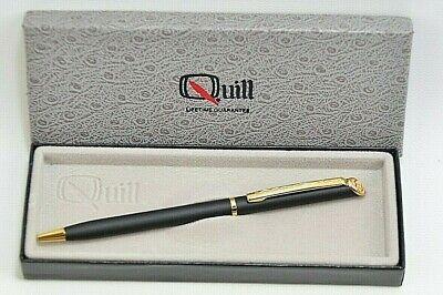 Lot of 100 Pcs Classy Norwood Ambassador Black Metal Pen with Gold Accents
