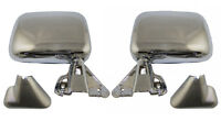 Manual Chrome Side View Mirror Pair / For Listed Toyota Pickup & 4runner
