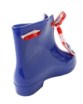 Chelsea Azul para Mujer Invierno Botas al tobillo de Lluvia Wellington Wellies Pixie Señoras Tamaño