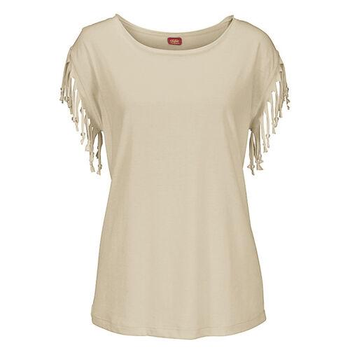 Neu Damen Quasten Kurzärmlig Locker T-Shirt Sommer Freizeit Oberteile BLUSE