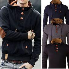 Stylish Men's Slim Warm Hooded Sweatshirt Hoodie Coat Jacket Outwear Sweater New