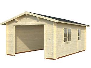 Details Zu 44 Mm Holzgarage Roger 5 6 7 Garage Ca 380 X 570 Cm Blockhaus Carport Holz