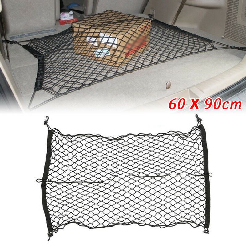 SUV Car Elastic Nylon Rear Cargo Trunk Storage Organizer Flexible Net 60 x 90cm