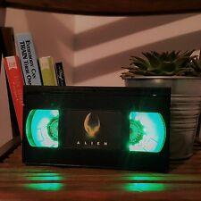Retro VHS Night Light Desk Lamp Alien Sifi VHS. Mancave!