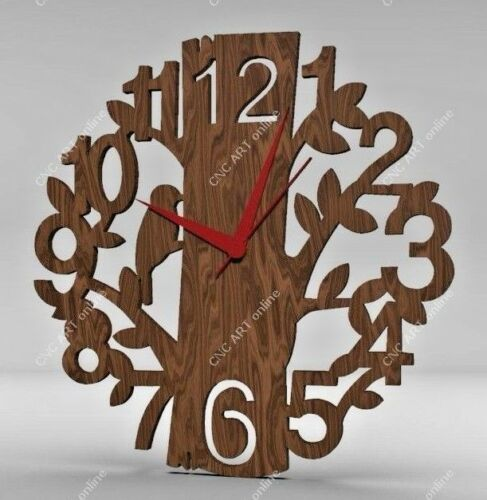 Nice clock design DXF and EPS File For CNC Plasma C35 laser Router