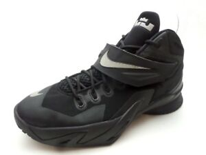 5e330e5097c Nike Zoom LeBron Soldier 8 Basketball Shoes Black Metallic Silver ...