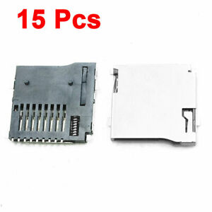 TF Memory Card Socket Connector 10 Pin No Push 15pcs uxcell Micro SD