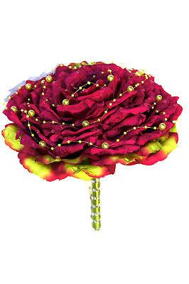 Tiaras & Haarreifen Realistisch Blumenstrauß Hochzeit Braut Kunstblumen Strauß Brautstrauß Seidenblumen Bs02-16 üBerlegene Leistung
