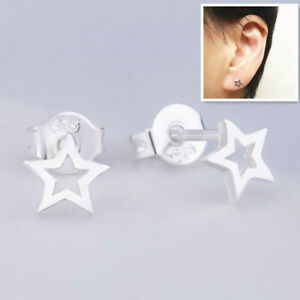 Shiny 925 Sterling Silver Plated Cute Small Cat Paw Print Stud Earrings Gift UK