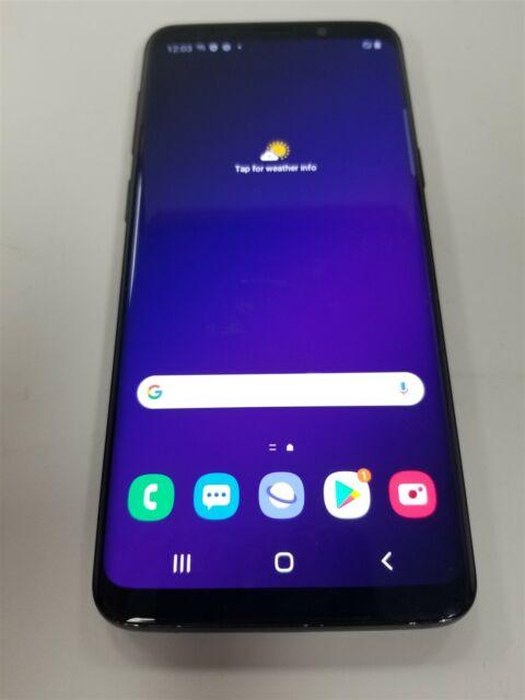 Samsung Galaxy S9 64gb Black SM-G960U1 (Unlocked) Great Phone Discounted RW2796