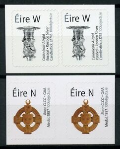Ireland-2019-MNH-History-in-100-Objects-4v-S-A-Set-in-Pairs-Artefacts-Art-Stamps