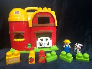 Mega Bloks Fold Play N Go Farm Playset Replacement Blocks Farmer Cow Figure Ebay