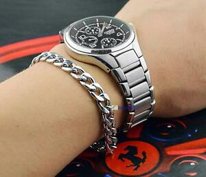 100-New-Fashion-Stylish-Men-039-s-Silver-Stainless-Steel-Bracelets-Bangles-Z2