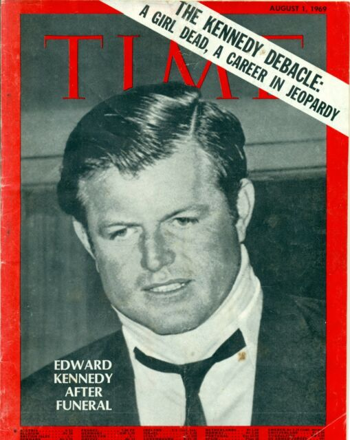1969 AUGUST 1 TIME MAGAZINE - EDWARD KENNEDY  AFTER FUNERAL