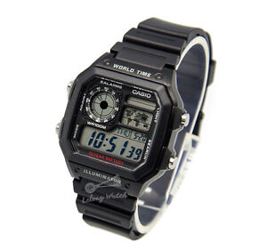 -Casio AE1200WH-1A Digital Watch Brand New & 100% ...
