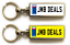 miniature 26 - Personalised Metal Double Sided Registration Number Plate Keyring Any Name /Text